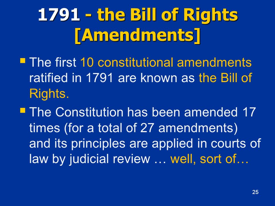 1791 - the Bill of Rights [Amendments]